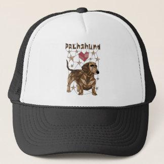 Geometric Dachshund Trucker Hat