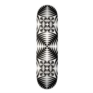 Geometric damask skate board