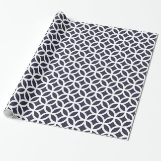 Geometric Dark Navy Blue  Wrapping Paper