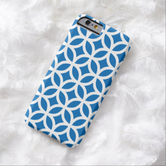 Geometric Dazzling Blue iPhone 6 case Barely There iPhone 6 Case
