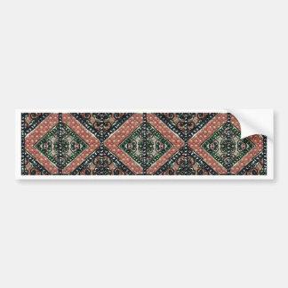 Geometric Decorative Motif Bumper Sticker