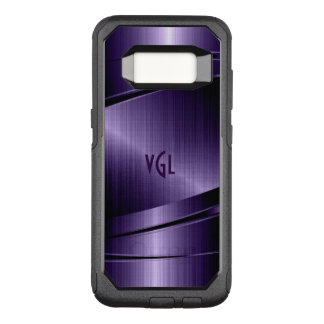 Geometric Deep-Purple Modern Metallic Texture