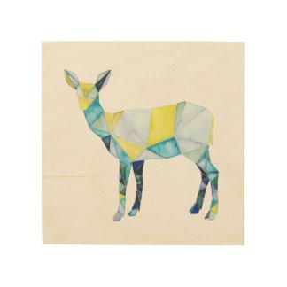 Geometric Deer Animal Wood Print