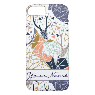 Geometric Deer iPhone Case