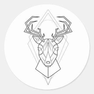 Geometric - Deer Sticker