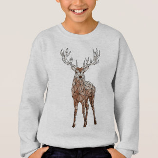 Geometric Deer Sweatshirt