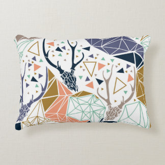 Geometric Deer Throw Pillow