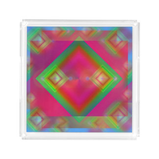 Geometric Design Acrylic Tray