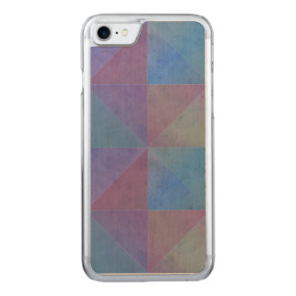 Geometric Design Blue Purple Watercolor Triangles Carved iPhone 8/7 Case