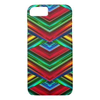 Geometric Design iPhone 7 Case - Green/Red/Blue