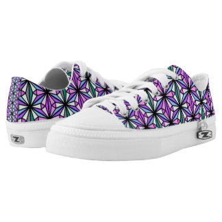 Geometric Design Low Tops