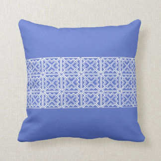 Geometric Design Throw Pillow In Periwinkle Blue