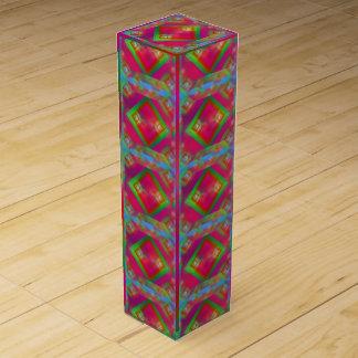 Geometric Design Wine Gift Box