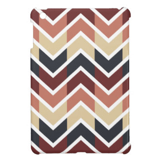 Geometric Designs Color Wine, Teal, Beige, Salmon iPad Mini Cases