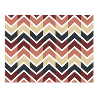 Geometric Designs Color Wine, Teal, Beige, Salmon Postcard