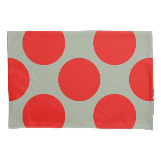 Geometric Diagonal Red Polka Dots on any Color Pillowcase