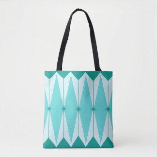 Geometric Diamonds & Starbursts Tote Bag