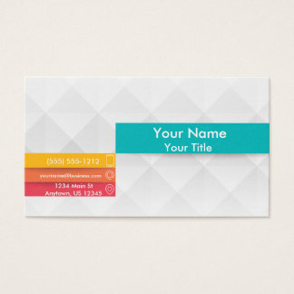 Geometric Diamonds with Colorful Accents Business Card