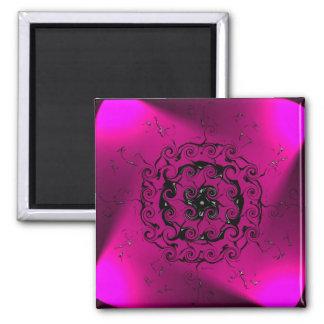 Geometric digital art, spiral purple magnet