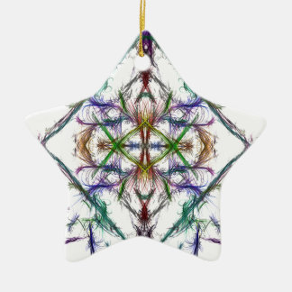 Geometric drawing on white background ceramic ornament