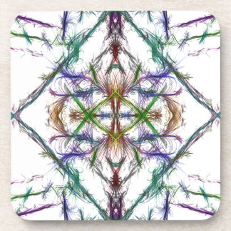Geometric drawing on white background coaster