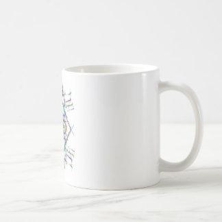 Geometric drawing on white background coffee mug