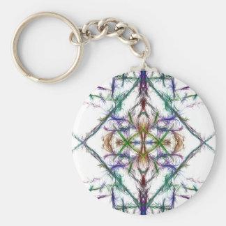 Geometric drawing on white background key ring