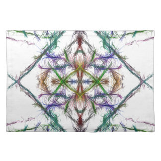 Geometric drawing on white background placemat