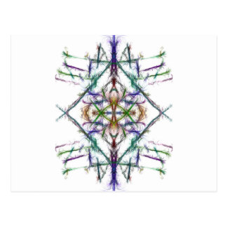 Geometric drawing on white background postcard