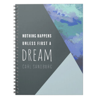 Geometric Dream   Inspirational Spiral Notebook