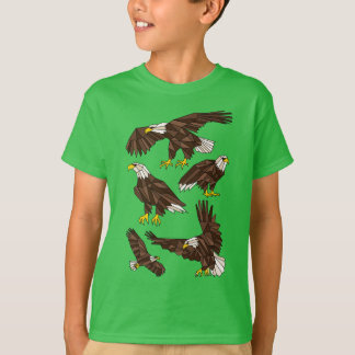 Geometric Eagles T-Shirt