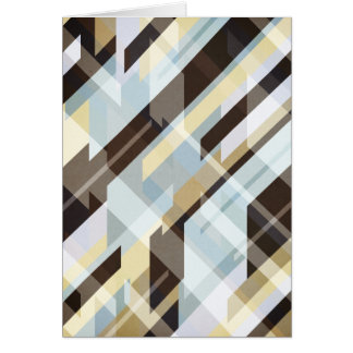Geometric Earth Tones Abstract Card