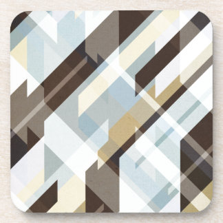 Geometric Earth Tones Abstract Drink Coaster