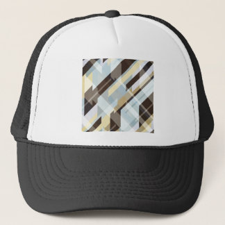 Geometric Earth Tones Abstract Trucker Hat