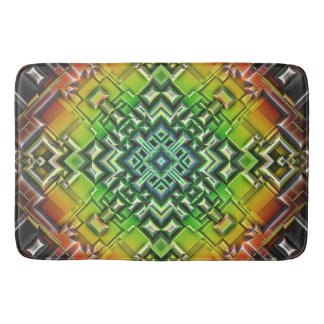 Geometric Earth Tones Bath Mat