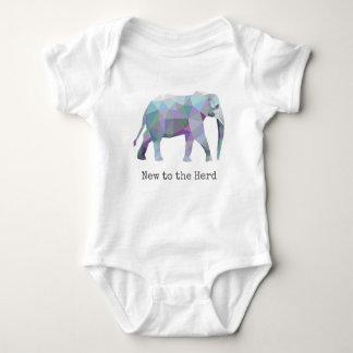 Geometric Elephant 🐘 New to the Herd Baby Bodysuit