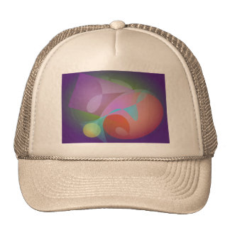 Geometric Expressionism Indigo Trucker Hat