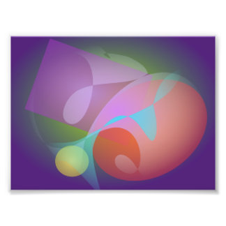 Geometric Expressionism Indigo Photograph