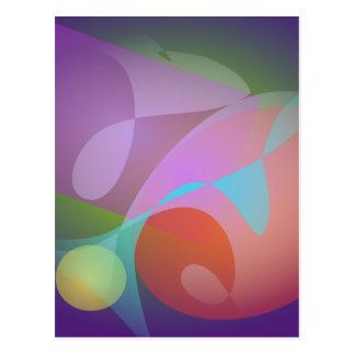 Geometric Expressionism Indigo Postcard