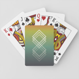 Geometric Fade Playing Cards