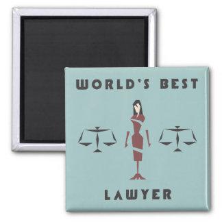 Geometric Female World's Best Lawyer Square Magnet
