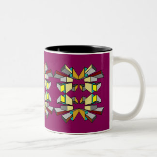GEOMETRIC FIGURES 5 Two-Tone COFFEE MUG