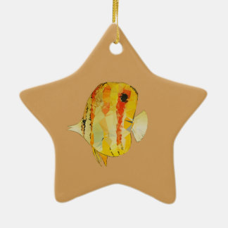 Geometric Fish Ceramic Ornament