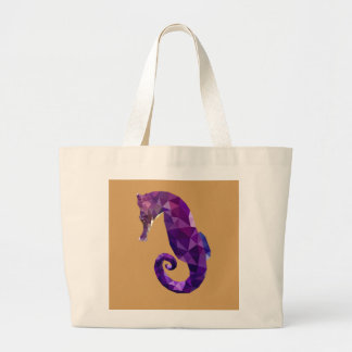 Geometric Fish Large Tote Bag