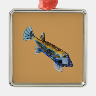 Geometric Fish Metal Ornament