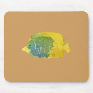 Geometric Fish Mouse Pad
