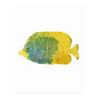 Geometric Fish Postcard