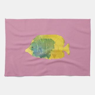 Geometric Fish Tea Towel
