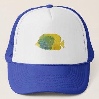 Geometric Fish Trucker Hat