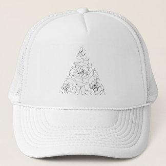 Geometric Floral Hat
